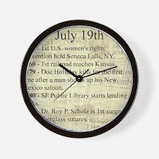 July 19th Wall Clock