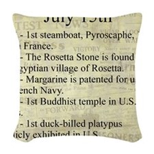 July 15th Woven Throw Pillow
