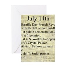 July 14th Greeting Cards