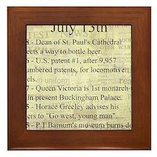July 13th Framed Tile