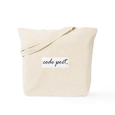 code poet Tote Bag