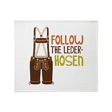 FOLLOW THE LEDER-HOSEn Throw Blanket