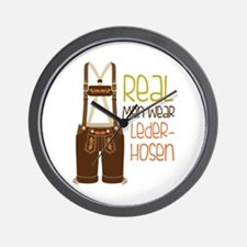 ReaL Men WeaR LedeR Hosen Wall Clock