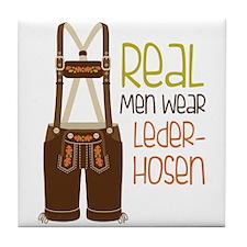 ReaL Men WeaR LedeR Hosen Tile Coaster
