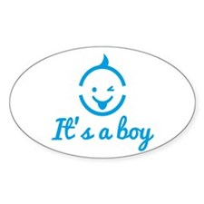 its a boy design with cute baby face icon Decal
