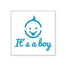 its a boy design with cute baby face icon Sticker