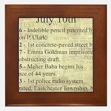 July 10th Framed Tile