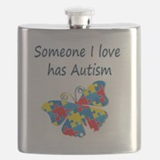 Someone I love has Autism (blue) Flask