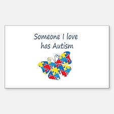 Someone I love has Autism (blu Decal