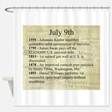 July 9th Shower Curtain