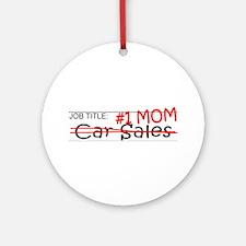 Job Mom Car Sales Ornament (Round)