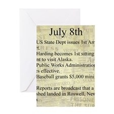 July 8th Greeting Cards