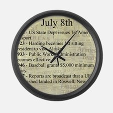 July 8th Large Wall Clock
