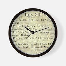 July 8th Wall Clock