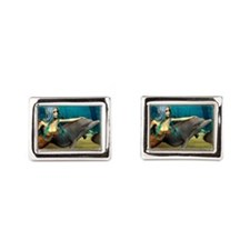 Mermaid and Dolphin Cufflinks