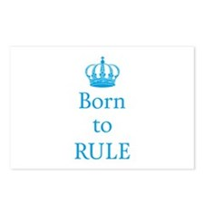 Born to rule, baby boy Postcards (Package of 8)