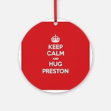 Hug Preston Ornament (Round)