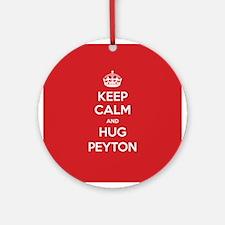 Hug Peyton Ornament (Round)