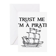TRUST ME I'M A PIRATE Greeting Cards (Pk of 10