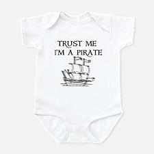 TRUST ME I'M A PIRATE Infant Bodysuit