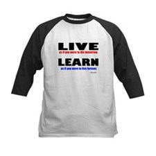 Live and Learn Baseball Jersey
