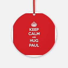 Hug Paul Ornament (Round)