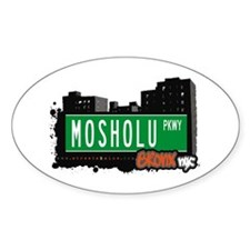 Mosholu Pkwy, Bronx, NYC Oval Decal