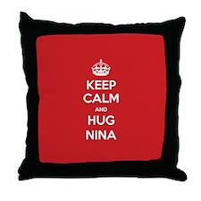 Hug Nina Throw Pillow