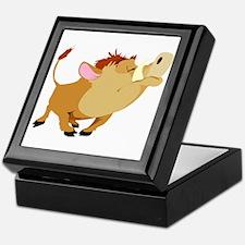Funny Stubborn Wild Boar Keepsake Box