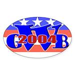W' 04 Oval Sticker