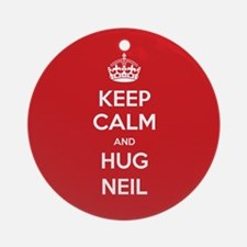 Hug Neil Ornament (Round)