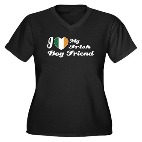 I love my Irish Boy Friend Women's Plus Size V-Nec