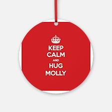 Hug Molly Ornament (Round)