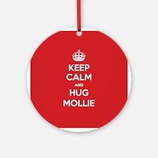 Hug Mollie Ornament (Round)