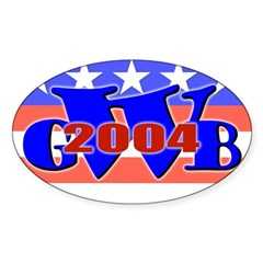 W' 04 Oval Decal