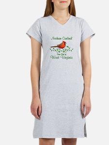 Cardinal West Virginia Bird Women's Nightshirt