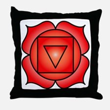 The Root Chakra Throw Pillow