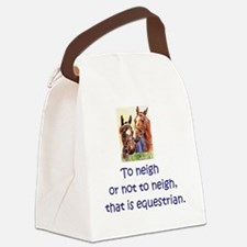 To neigh or not to neigh, that is Canvas Lunch Bag