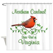 Cardinal Virginia Bird Shower Curtain