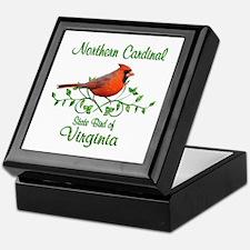 Cardinal Virginia Bird Keepsake Box