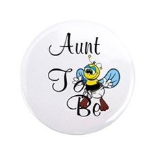"Playful Aunt To Be 3.5"" Button"