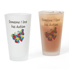 Someone I love has Autism (multi) Drinking Glass