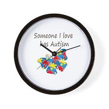 Someone I love has Autism (multi) Wall Clock