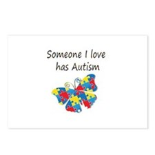 Someone I love has Autism Postcards (Package of 8)