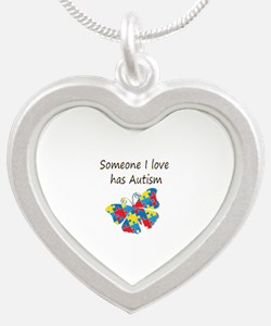 Someone I love has Autism (m Silver Heart Necklace