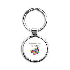 Someone I love has Autism (multi) Round Keychain