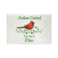 Cardinal Ohio Bird Rectangle Magnet