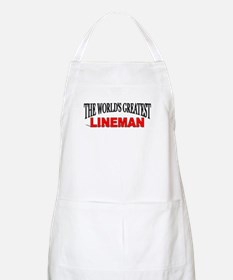 """The World's Greatest Lineman"" BBQ Apron"