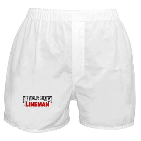 """""""The World's Greatest Lineman"""" Boxer Shorts"""