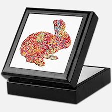Colorful Floral Easter Bunny Keepsake Box